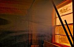 Smokey window (creepingvinesimages - struggling to keep up!) Tags: window virginia smoke garage central samsung galaxy topaz s7 restyle hww pse14