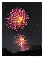 Murol [Puy  de Dme] (BerColly) Tags: france castle night google flickr fireworks chateau nuit auvergne 14juillet puydedome feuartifice murol bercolly