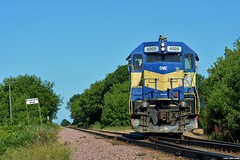 Working The Spur (Ryan Distad) Tags: dme 4005 emd gp40 plainview spur eyota minnesota railroad railway trees summer june outside cp canadian pacific freight track train railfanning