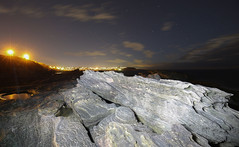 Rock painting (simon60d) Tags: light sky seascape nature night clouds painting stars landscape fun outdoors evening cool rocks alone fresh clean relaxed headland