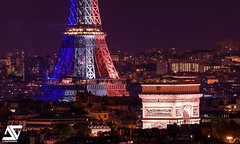 Tricolore (A.G. Photographe) Tags: paris france french nikon europe flag eiffeltower sigma toureiffel ag capitale arcdetriomphe franais parisian drapeau anto frenchflag tricolore bleublancrouge xiii parisien tricolored 150600 antoxiii agphotographe