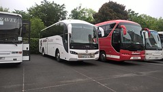 Gibson Executive travel. (Phill_129) Tags: gibson executive travel coach hire bus buses belfast northern ireland scotland sussundegui volvo sd14 ydl pipe band championship andrews neoplan ou65 rgz starliner