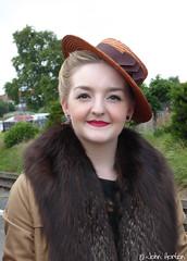 SVR 1940's Weekend (2016) - 03 (Row 17) Tags: uk greatbritain portrait england people woman hat women unitedkingdom britain hats event 1940s gb worcestershire reenactment svr severnvalleyrailway kidderminster