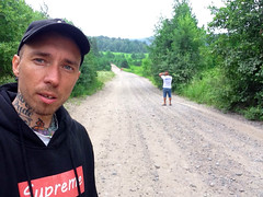 selfie on the road. karelia. (xheartinsidex) Tags: road black tree green forest russia karelia supreme ralphlauren selfie