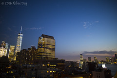 NYC and Jersey City as night falls
