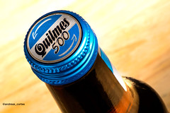 Quilmes (andreas cortes) Tags: blue beer argentina photo bottle foto cerveza bandera quilmes botella producto productphoto argentinaflag