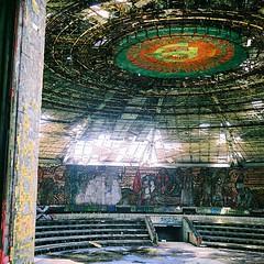 Under the Soviet Dome (yoannpupat) Tags: 120 shipka urbex fujipro160ns squareformat buzludzha ishootfilm 66 rolleiflex