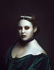 ruby (sparkbearer) Tags: red green dark digitalart surreal pale spooky ethereal elinchrom portraitphotography bloodyeyes chelseaknight