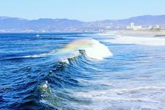 Venice Beach (Selma Grytzell) Tags: ocean california canon rainbow wave venicebeach rainbowwave canon600d