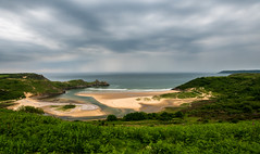 3 Cliffs bay, Gower (technodean2000) Tags: sea summer cliff beach water beautiful rock swansea wales landscape bay three sand nikon waterfront outdoor cliffs formation national trust gower lovely railways lovering d610 asitis