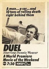 Duel (1971) (STUDIOZ7) Tags: duel movie dennisweaver stevenspielberg abc kmsp tv television channel9 minneapolis stpaul twincities minnesota mn 1970s seventies 70s network fox9