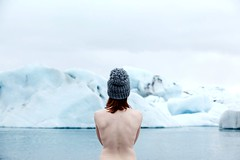 Ice ice baby (elsvo) Tags: iceland glacier lagoon ice selfportrait back bare barebackmountain hat skin girl woman tagginlikeaboss lake glacierlake jokulsarlon blue cold