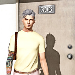 Room 306 (The Virtual Gent) Tags: world feet fashion shirt tattoo pose hair bag logo pumpkin grey outfit eyes hands shoes pants skin action body head kunst watch location sl greeneyes event secondlife virtual backpack trousers wristwatch crossroads tee sleeve gent labyrinth poses gentleman inhale loafers greyhair tmd virtualworld tvg gizza slink meshhead applier malefashion meshbody secondlifetravel davidheather mensfashion mesheyes legacyridge meshhair themensdepartment skinapplier poseology thevirtualgentleman thevirtualgent themensdepartmen actioninkubator letre