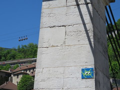 Space Invader GRN_12 (tofz4u) Tags: streetart france grenoble tile mosaic spaceinvader spaceinvaders invader bastille bulles 38 mosaque isere artderue tlphrique isre grn12