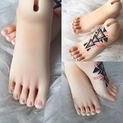 BJD Pedi/Tattoo by Moji Studio (MojiStudio) Tags: pedi bjd tattoo blushing impldoll doll