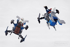 Coruscant Police Gunship Microfighter (Vaionaut) Tags: starwars lego wars clone legostarwars starship gunship tcw coruscant starfighter lsw