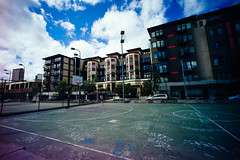 Basketball Court, Cal Anderson Park. (Matt Benton) Tags: leica capitolhill rented voigtlandersuperwideheliar15mmf45 leicame