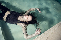 Lina-15 (Zolfo) Tags: color water pool girl brunette blackandwithe