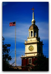 Watch Tower (dale rice 2011) Tags: sky tower clock canon flag americanflag dearborn greenfieldvillage