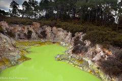 Devil's Bathtub (Waiotapu Geothermal Park, near Rotorua, New Zealand) (Robin Black Photography) Tags: park newzealand hot green toxic yellow landscape spring neon rotorua alien ngc fluorescent mineral northisland geyser geothermal bizarre naturesbest waiotapu nationalgeographic otherworldly outdoorphotographer canon5dmarkii robinblackphotography