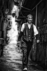elegance in the old alley~ shanghai (~mimo~) Tags: china street old blackandwhite man walking photography alley asia shanghai elegant mimokhair