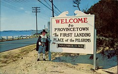 The Town Crier, Provincetown, Mass. (SwellMap) Tags: road signs monument public sign vintage advertising design 60s highway gate arch fifties message postcard suburbia entrance style kitsch retro billboard route nostalgia chrome freeway gateway billboards americana 50s lettering welcome roadside populuxe sixties babyboomer consumer coldwar midcentury spaceage atomicage archwaypc