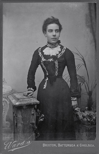 Pretty Victorian wearing a corset