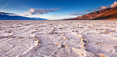Cracks in Bad Water (Bjrn Burton Photography) Tags: texture evening nikon desert flat wide salt playa mojave elevation saltflats d800 badwater deathvalleynationalpark lowestpoint nikon1635mmf4vr bjornburton