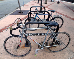 Bicycle Parking, Liberty State Park Hudson-Bergen Light Rail Station, Jersey City, New Jersey (jag9889) Tags: railroad station bike bicycle newjersey jerseycity parking nj transportation transit libertystatepark njt lsp hudsoncounty hudsonbergenlightrail hblr