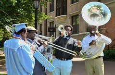Light Brass (skippyclese) Tags: blue bell flare trombone tuba grad brass quartet