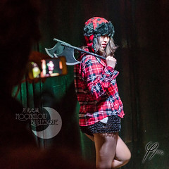 Labor Day Special - The Lumberjack (Moonglow Burlesque) Tags: show woman sexy girl hat dance stage performance dancer axe cabaret plaid burlesque lumberjack profession