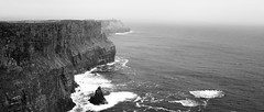 Cliffs of Moher (lennox_mcdough) Tags: ocean ireland sea bw cliff water canon eos coast atlantic cliffsofmoher atlanticocean countyclare éire reddit aillteanmhothair 5dmarkii canonef40mmf28stm takenin2013