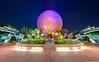 This is EPCOT (TheTimeTheSpace) Tags: flowers colors goofy night stars epcot nikon mickey minnie monorail hdr d800 spaceshipearth matthewcooper flowerandgardenfestival monorails geodesicsphere thetimethespace doublemonorail