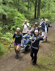 Team cheer !!! (PowellRiverMobilityOpportunitiesSociety) Tags: family friends nature sunshine river coast back teams walks country trails together powell society mobility opportunities disability accessibility friendships trailrider