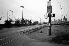 Ghost Bike (joeball) Tags: seattle park bw film bike 35mm ride kodak chief trail thursday 83 seward sealth bw400cn olympusinfinityjr point83 20130502 oij1