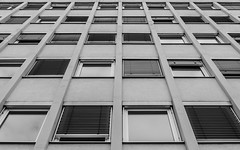 Stare Too Long (+ & -) Tags: windows bw white black reflection building germany office nikon shades symmetry d7000 weissenburginbayern