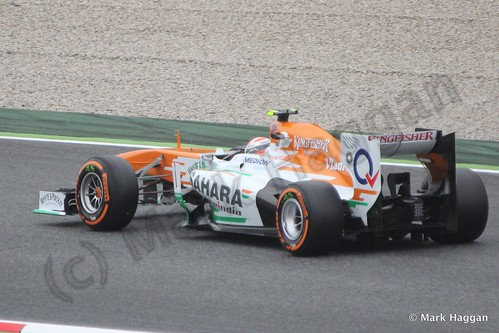 Adrian Sutil in Free Practice 1 at the 2013 Spanish Grand Prix