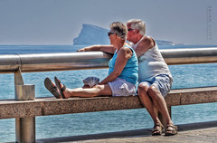 The Benidorm Rock (brianac37) Tags: people couple elderly promenade levante levantebeach bench sea seafront seascape seashore seated benidorm comunidadvalenciana costablanca spain