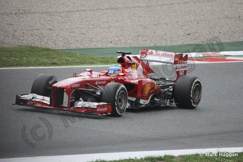Fernando Alonso in Free Practice 3 for the 2013 Spanish Grand Prix