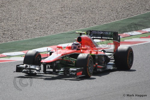 Jules Bianchi in Free Practice 3 for the 2013 Spanish Grand Prix