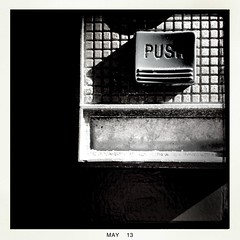 PUSH (Chris Blakeley) Tags: seattle doorbell hipstamatic