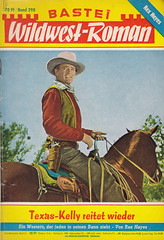 Bastei Wildwest-Roman 298 (micky the pixel) Tags: western pulp johnwayne groschenroman dimenovels groschenheft wildwestroman basteiwildwestroman rexhayes texaskellyreitetwieder