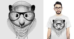 HIP(HAM)STER (Luis Pippi) Tags: illustration design hipster tshirt hamster threadless tee camiseta ilustrao tees teedesign