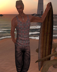 Urban Pop Red (smine27) Tags: fashion 3d avatar shiki secondlife mensfashion secondlifefashion virtualfashion iheartsl shinichimathy menstanktop shikidesign meshclothing meshfashion menssinglet