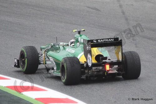Giedo van der Garde in Free Practice 1 at the 2013 Spanish Grand Prix
