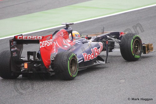 Jean-Eric Vergne in Free Practice 1 at the 2013 Spanish Grand Prix