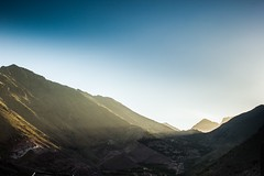 Sunset on the High Atlas (Shelbypoppit) Tags: life africa street city longexposure light portrait snow mountains landscape photography market northafrica muslim spice working culture morroco busy atlasmountains berber maroc atlas marrakech souk medina marrakesh souks smelly marroc riad highatlas low cinamon imlil light