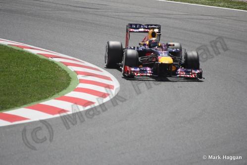 Sebastian Vettel in qualifying for the 2013 Spanish Grand Prix