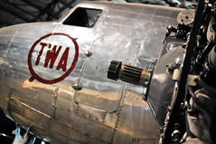 TWA DC3 (Matthew Britton) Tags: old city red 3 history museum plane vintage matt dc nikon aluminum matthew air engine images airline kansas connie propeller mb twa britton d300s