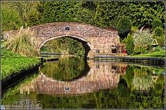Whittington Horse Bridge (Rob-33) Tags: reflection reflections pentaxkx whittington wetreflections wetreflection staffsworcscanal whittingtonhorsebridge
